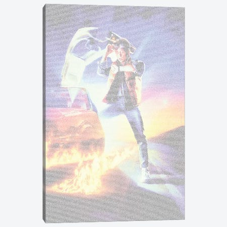 Back To The Future Trilogy Canvas Print #EWE30} by Robotic Ewe Canvas Print
