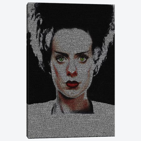 The Bride Of Frankenstein Canvas Print #EWE33} by Robotic Ewe Canvas Print