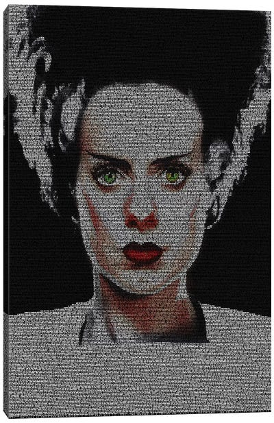 The Bride Of Frankenstein Canvas Art Print