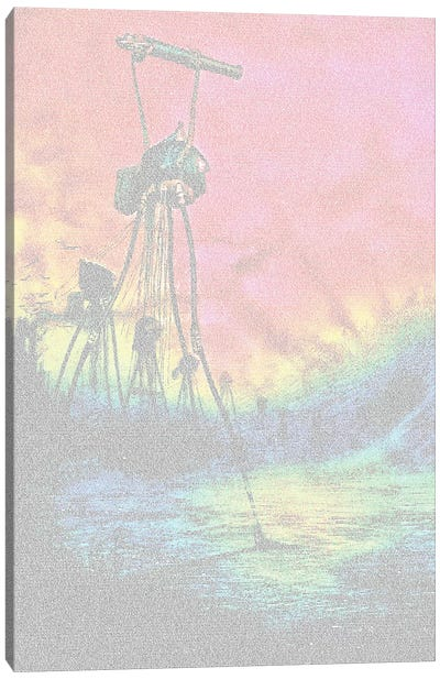 War Of The Worlds Cannon, Colour Canvas Art Print