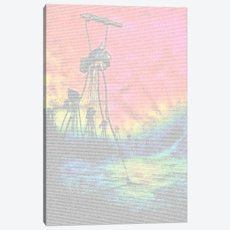 War Of The Worlds Cannon, Colour Canvas Print #EWE34} by Robotic Ewe Canvas Artwork