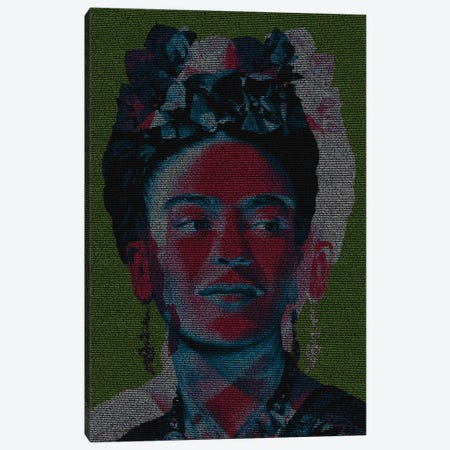 Frida Canvas Print #EWE37} by Robotic Ewe Canvas Artwork