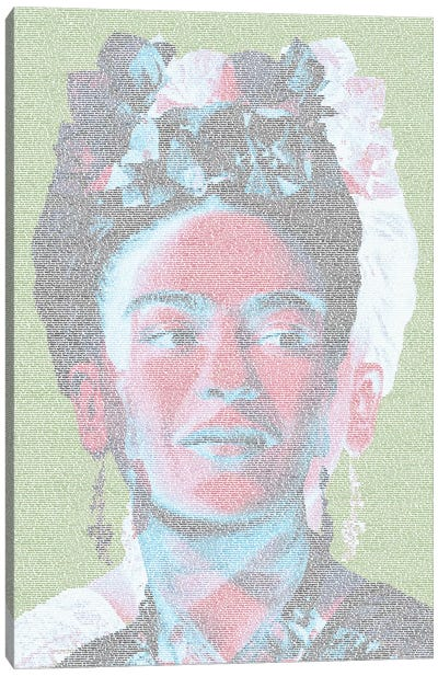 Frida White Canvas Art Print