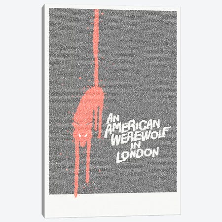 An American Werewolf In London Canvas Print #EWE3} by Robotic Ewe Canvas Art Print