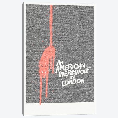 An American Werewolf In London Canvas Print #EWE3} by Robotic Ewe Canvas Art Print