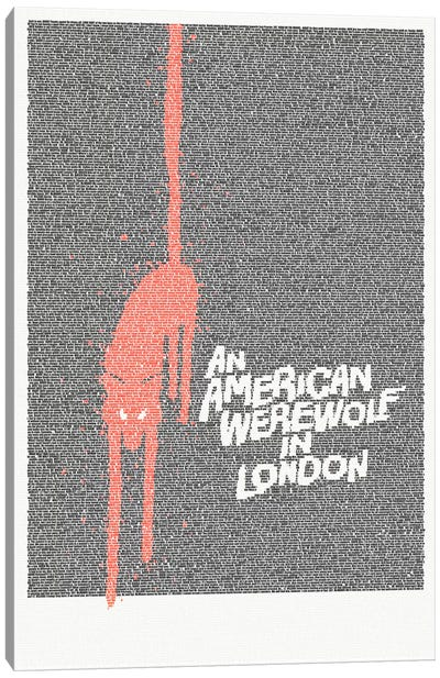 An American Werewolf In London Canvas Art Print