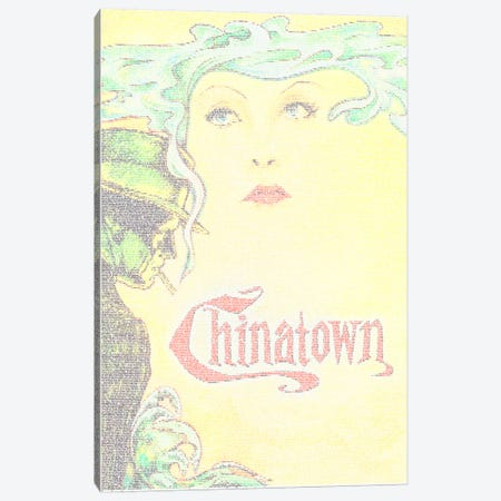 Chinatown Canvas Print #EWE6} by Robotic Ewe Canvas Art