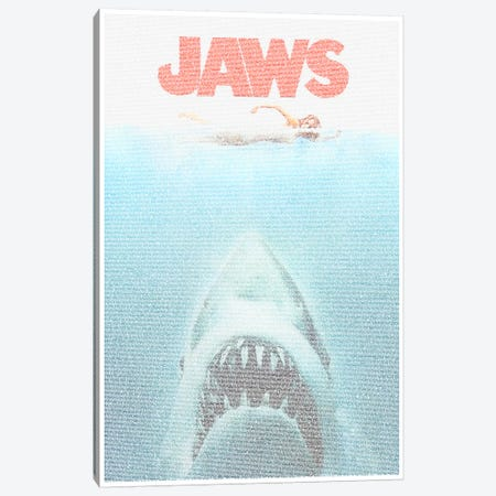 Jaws Canvas Print #EWE8} by Robotic Ewe Art Print