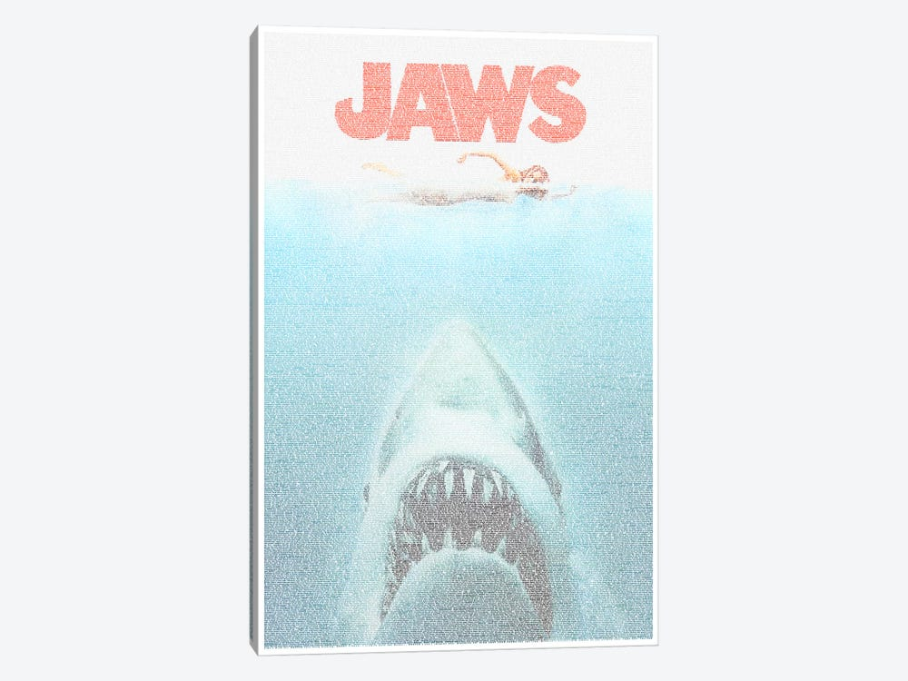 Jaws by Robotic Ewe 1-piece Canvas Art
