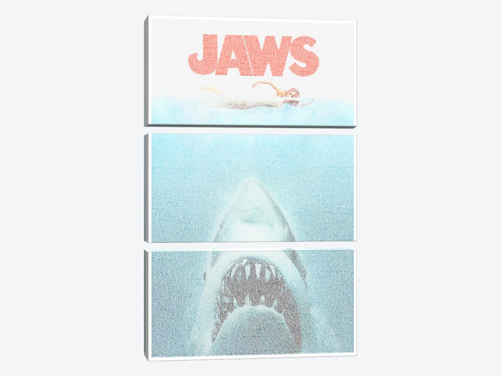 Jaws by Robotic Ewe 3-piece Canvas Wall Art