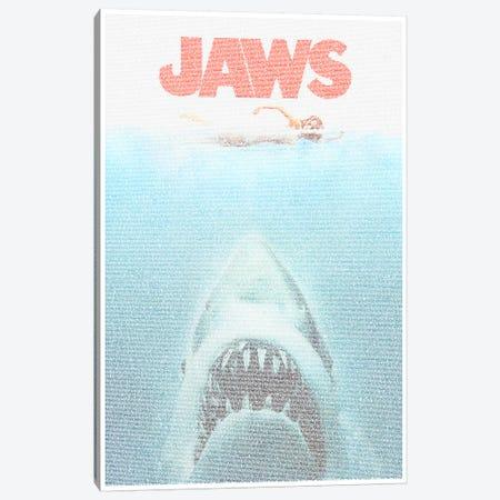 Jaws Canvas Print #EWE8} by Robotic Ewe Art Print