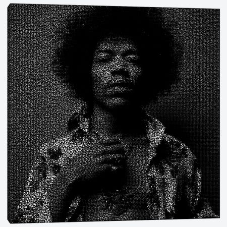 Jimi Canvas Print #EWE9} by Robotic Ewe Art Print