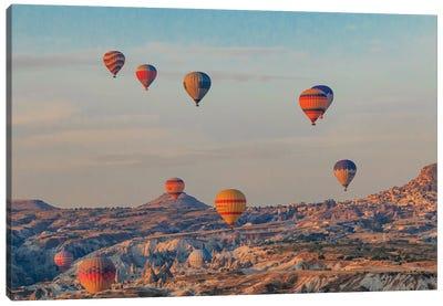 Turkey, Anatolia, Cappadocia, Goreme. Hot air balloons flying above the valley III Canvas Art Print