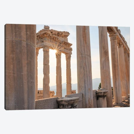 Turkey, Izmir, Bergama, Pergamon, acropolis, Temple of Trajan I Canvas Print #EWI18} by Emily Wilson Canvas Print