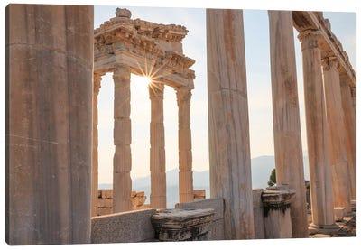 Turkey, Izmir, Bergama, Pergamon, acropolis, Temple of Trajan I Canvas Art Print
