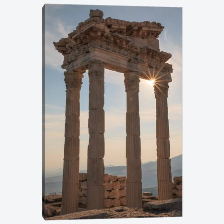 Turkey, Izmir, Bergama, Pergamon, acropolis, Temple of Trajan II Canvas Print #EWI19} by Emily Wilson Canvas Print