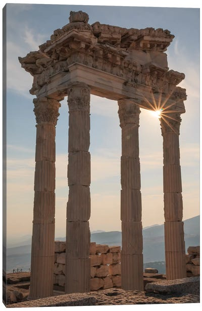 Turkey, Izmir, Bergama, Pergamon, acropolis, Temple of Trajan II Canvas Art Print