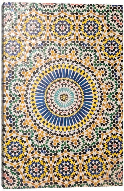 Zellij, Telouet (El Glaoui Family Kasbah), Morocco Canvas Art Print