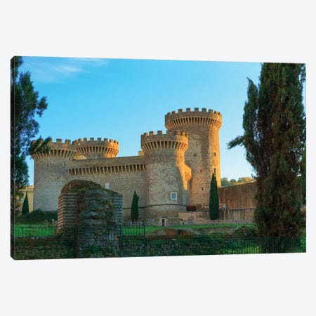 Italy, Rocca Pia. Castle in Tivoli, near Rome. Canvas Print #EWI22} by Emily Wilson Canvas Wall Art