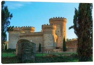 Italy, Rocca Pia. Castle in Tivoli, near Rome. Canvas Art Print