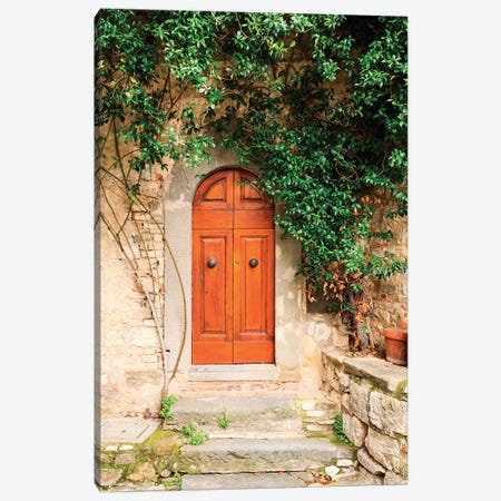 Italy, Tuscany, Greve in Chianti. Chianti vineyards. Stone farm house entrance door. Canvas Print #EWI25} by Emily Wilson Canvas Print