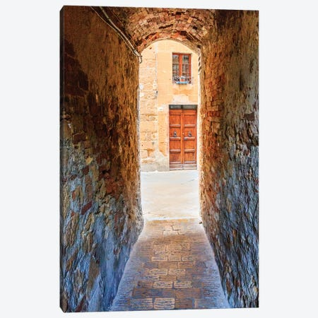 Italy, Tuscany, province of Siena, Chiusure. Hill town. Narrow passageway. Canvas Print #EWI28} by Emily Wilson Canvas Art