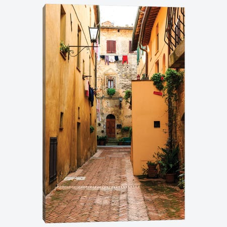 Italy, Tuscany, province of Siena, Chiusure. Hill town. Narrow passageway. Canvas Print #EWI29} by Emily Wilson Canvas Wall Art