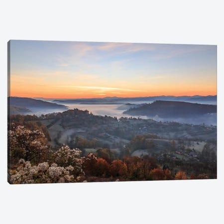 Transylvania, Romania, Maramures County, Dobricu Lapusului and Targu Lapus. Canvas Print #EWI9} by Emily Wilson Canvas Print