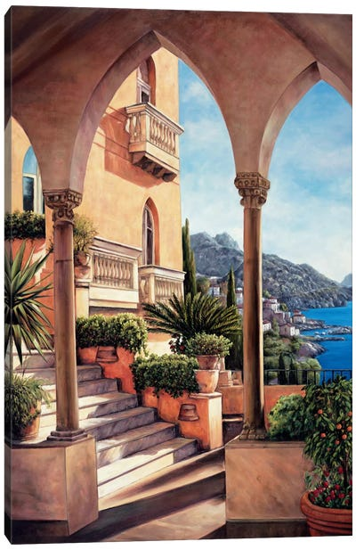 Palazzo On Amalfi Canvas Art Print
