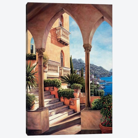 Palazzo On Amalfi Canvas Print #EWR3} by Elizabeth Wright Art Print