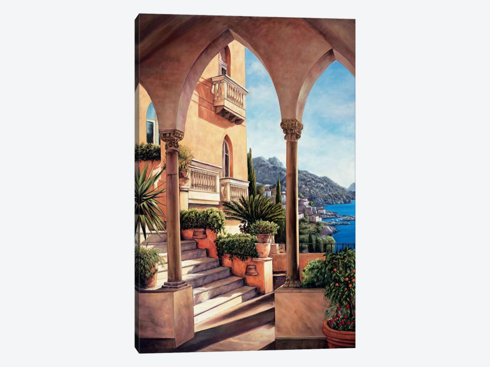 Palazzo On Amalfi by Elizabeth Wright 1-piece Canvas Wall Art