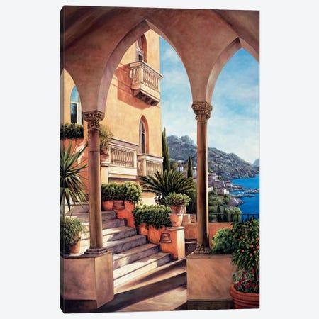 Palazzo On Amalfi 3-Piece Canvas #EWR3} by Elizabeth Wright Art Print