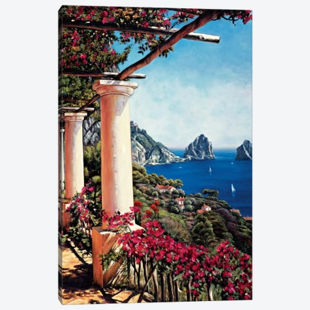 Pergola In Capri Canvas Print #EWR4} by Elizabeth Wright Canvas Artwork