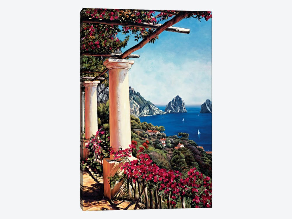 Pergola In Capri by Elizabeth Wright 1-piece Canvas Print