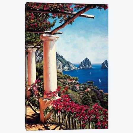 Pergola In Capri Canvas Print #EWR4} by Elizabeth Wright Canvas Artwork