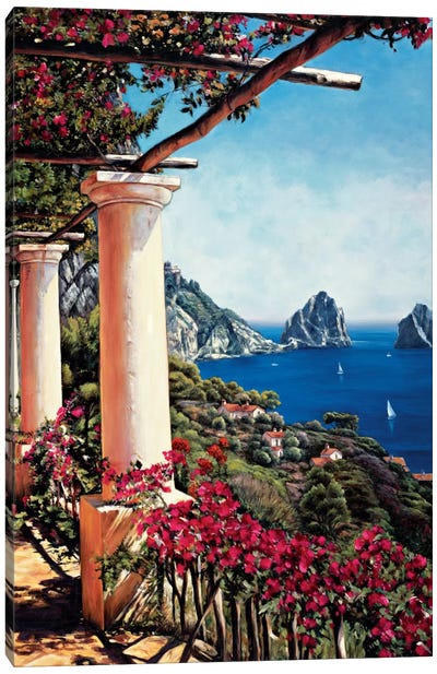 Pergola In Capri Canvas Art Print