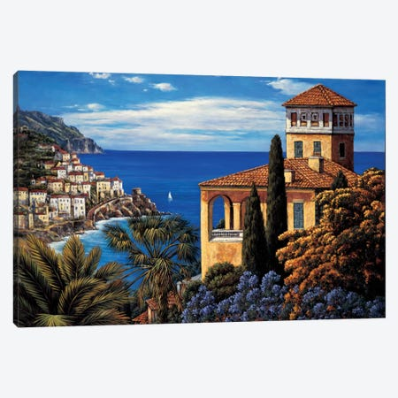 The Amalfi Coast Canvas Print #EWR5} by Elizabeth Wright Canvas Wall Art