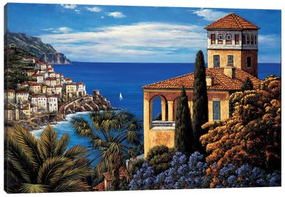 The Amalfi Coast Canvas Print #EWR5