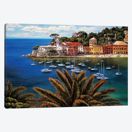 The Tuscan Coast Canvas Print #EWR6} by Elizabeth Wright Canvas Artwork