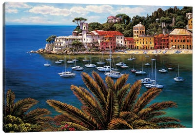 The Tuscan Coast Canvas Print #EWR6