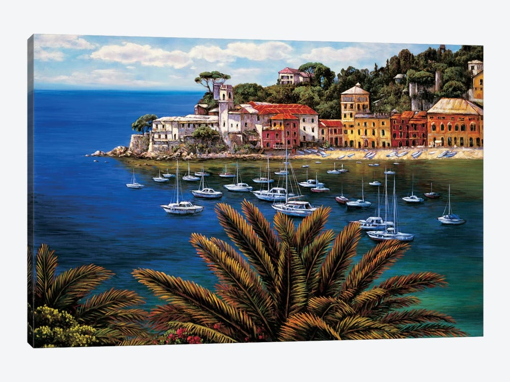 The Tuscan Coast by Elizabeth Wright 1-piece Canvas Print