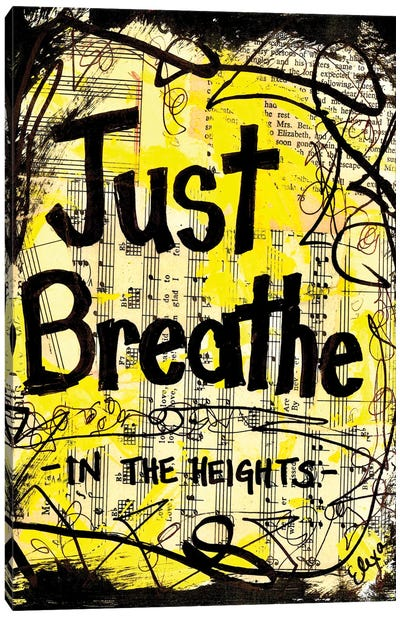 Breathe From In The Heights Canvas Art Print