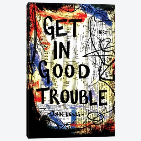 Good Trouble John Lewis Quote Canvas Print #EXB102} by Elexa Bancroft Canvas Art Print