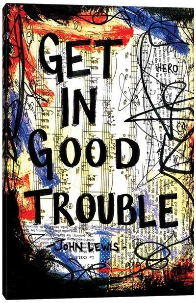 Good Trouble John Lewis Quote Canvas Art Print