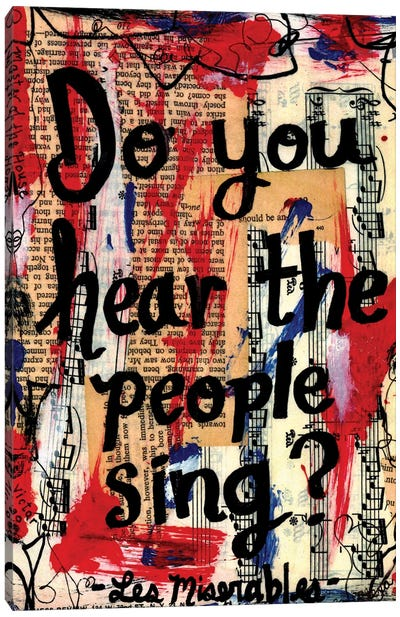 Sing From Les Miserables Canvas Art Print
