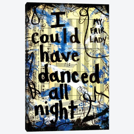 Danced From My Fair Lady Canvas Print #EXB107} by Elexa Bancroft Canvas Wall Art