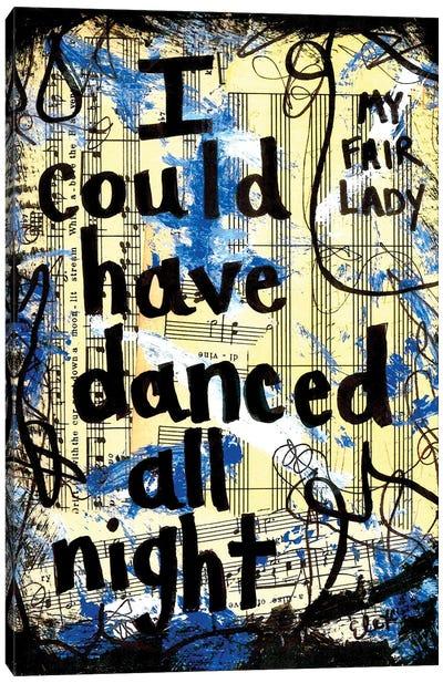 Danced From My Fair Lady Canvas Art Print