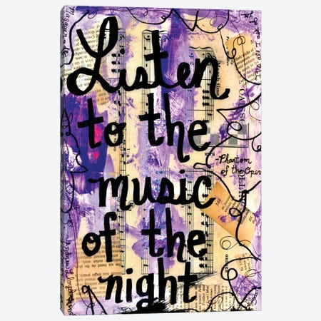 Music Of The Night Phantom Canvas Print #EXB109} by Elexa Bancroft Art Print