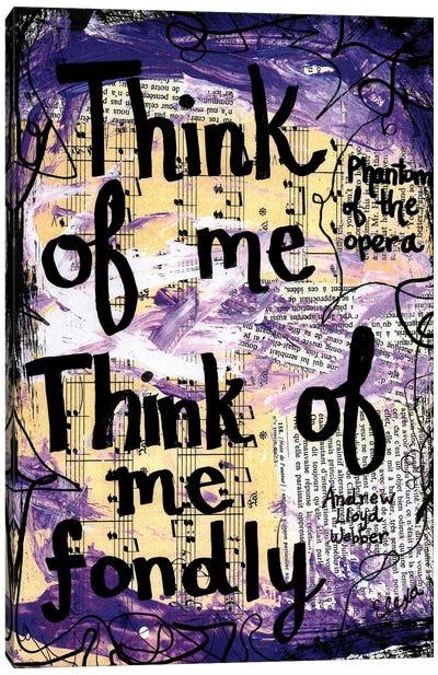 Think Of Me Phantom Canvas Art Print