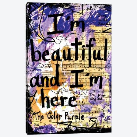 Beautiful Color Purple Canvas Print #EXB112} by Elexa Bancroft Canvas Wall Art